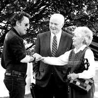Bruce Springsteen with Senator and Mrs. John Glenn